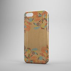 Wood Print floral Unique iPhone Case  iPhone 5 by InfigoDesign, $21.95