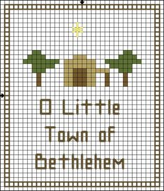 Free Christmas Cross Stitch Patterns - Free Printable Christmas Charts: O Little Town of Bethlehem Christmas Cross Stitch Pattern