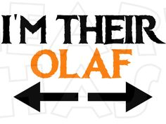 I'm their Olaf INSTANT DOWNLOAD digital clip art for iron on transfer :: My Heart Has Ears