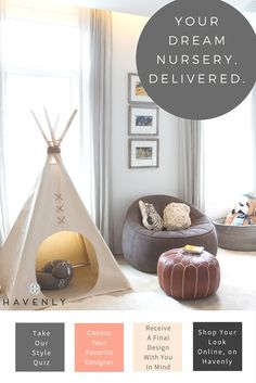 Welcome your bundle of joy with a playful nursery! Get your perfect nursery with Havenly: Professional design, all online, delivered to your door.