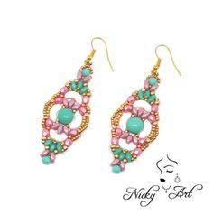Earrings Spring beading pattern por NickyArtGioielli en Etsy