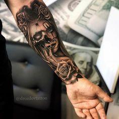 Forearm sleeve tattoos, body art tattoos, tatoos, tatting, tattoos for guys Skull Sleeve Tattoos, Forearm Sleeve Tattoos, Best Sleeve Tattoos, Tattoo Sleeve Designs, Clock Tattoo Sleeve, Forarm Tattoos, Leg Tattoos, Body Art Tattoos, Tattoos For Guys
