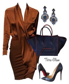 A fashion look from october 2015 featuring christian louboutin pumps i céline handbags. browse and shop related looks. Passion For Fashion, Love Fashion, Autumn Fashion, Fashion Looks, Womens Fashion, Fashion Quiz, Fashion Quotes, Cheap Fashion, Korean Fashion