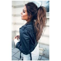 11 Cute High Ponytail Hairstyles For Beautiful Women Hairstyles 2017 ❤ liked on Polyvore featuring hair