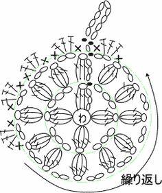Crochet Motifs, Crochet Flower Patterns, Crochet Chart, Crochet Squares, Crochet Flowers, Knit Crochet, Crochet Scrubbies, Crochet Potholders, Crochet Fairy