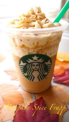 Learn how to make your own Starbucks Pumpkin Spice Frappuccino at home! // #PumpkinSpice #Frappuccino #Starbucks