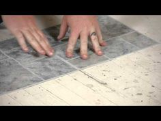 ▶ How to Lay Vinyl Tiles on Top of Old Flooring : Flooring Help - YouTube