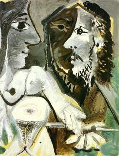 pablo picasso___naked woman and musketeer 1967 Pablo Picasso Drawings, Kunst Picasso, Art Picasso, Picasso Paintings, Oil Paintings, Pablo Picasso Zeichnungen, Famous Spanish Artists, Desenhos Van Gogh, Naive Art