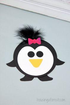 Easy Penguin Craft for kids ~ Printable PDF