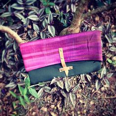 Fold over clutch #fairtrade #ethicalfashion #handloomed #newproduct (at Kololo)