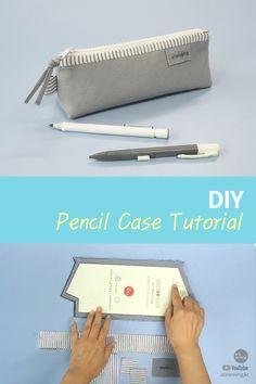 Pencil Case Tutorial, Diy Pencil Case, Pencil Cases, Sewing Tutorials, Sewing Projects, Sewing Patterns, Bag Patterns, Baby Frocks Designs, Diy School Supplies