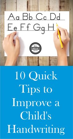 10 Quick Tips to Improve Handwriting - Your Therapy Source