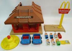 VINTAGE MCDONALD'S RESTAURANT FAMILIAR PLACES PLAYSET PLAYSKOOL 1974 CARS PEOPLE  | eBay