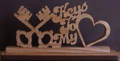 Keys To My Heart Desk Sign by DukesScrollSaw on Etsy, $5.00