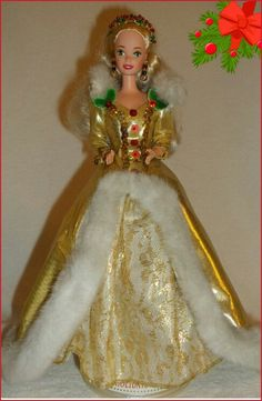1994 Happy Holiday Barbie  Special Edition  Was the 7th Holiday Barbie doll. There is also an African version of this doll. #barbie #barbiecollector #holidaybarbie