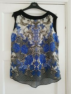 Dorothy Perkins Vest // Tank Top Dark Rose UK Size 12 or 14 New With Tag