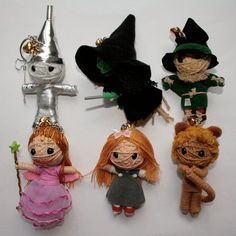 Wizard of Oz Voodoo Doll Keychains Set