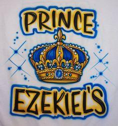 Airbrushed Prince King Crown Custom T-shirt  Baby Bodysuit