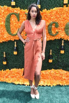 Laura Harrier - Every Look from the 2016 Veuve Clicquot Polo Classic - Photos