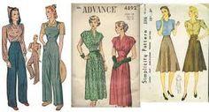 Resultado de imagen para ropa en los años 40