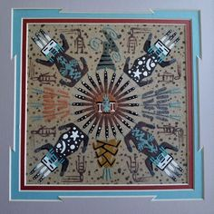 Healing Balance Navajo Indian Sand Painting Southwestern Art Signed Framed  | Collectibles, Cultures & Ethnicities, Native American: US | eBay!