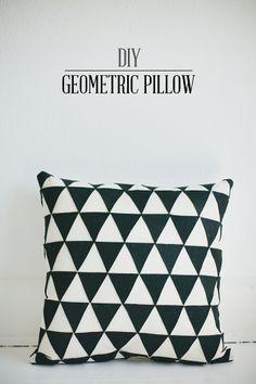 DIY: geometric pillow
