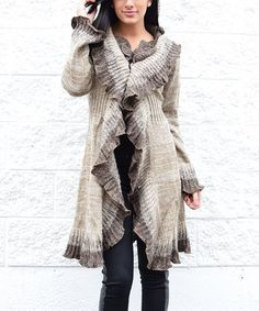 Look what I found on Beige Lace Wool-Blend Open Cardigan - Women by Simply Couture Cute Fashion, Womens Fashion, Ladies Fashion, Diy Fashion, Fashion Ideas, Boho Beautiful, Open Cardigan, Everyday Outfits, Cardigans For Women