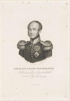 Jan Baptist Tetar van Elven   Portret van Willem II, koning der Nederlanden, Jan Baptist Tetar van Elven, 1832   Portret van Willem II. In de ondermarge zijn titels.