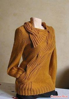 Пуловер горчичного цвета - Вязание - Страна Мам
