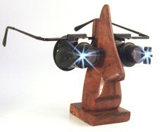 Wearable hobbyist loupe at LowvisionBooster.com