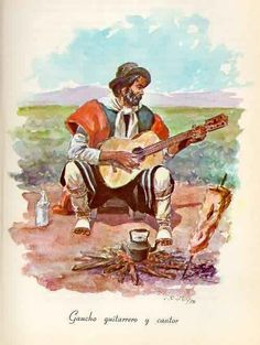 Vino y girasoles...: Coplita... pá tres. Rio Grande Do Sul, Cowboys, Westerns, Art Nouveau, Knight, Stamp, Cartoon, Comics, Dilema