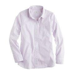 Shrunken shirt in dot oxford $78