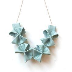 Beautiful Handmade Origami Necklaces from HOMAKO