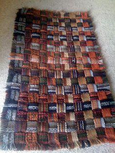 Rug woven on Inkle Loom - using up my stash!