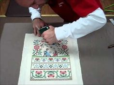 How To Frame A Cross Stitch - Demo Of Needlework Framing.