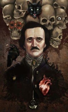 Edgar Allan Poe art - Vist this link for a bio - Real interesting! http://www.biography.com/people/edgar-allan-poe-9443160