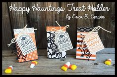 Pink Buckaroo Designs: Happy Hauntings Treat Holders (Video Tutorial)
