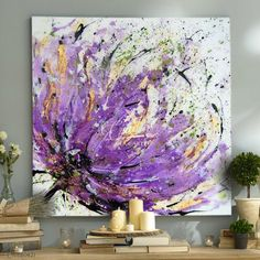 Original Oil Painting on canvas. *Title: July Flowers *Size: cm *Painting are signed by Author - Lenta. *Type: Original Hand Made Oil Painting on Canvas. *The painting is sold unframed. Abstract Flowers, Abstract Art, Painting Flowers, Diy Painting, Flower Painting Abstract, Abstract Portrait, Abstract Landscape, Arte Floral, Acrylic Art
