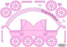 Pram Shaped Card Baby Girl on Craftsuprint - View Now!