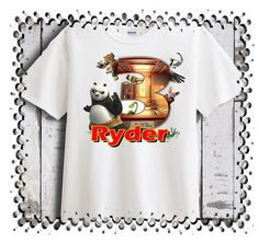 Kung Fu Panda Personalized - Birthday T-Shirt Party Favor  #CartersbrandbodysuitsDeltaandGlidan #Birthday