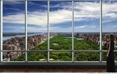 This is what a $90,000,000 view looks like. One-57 apartment, New York