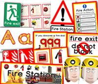 Fire Station Role Play Resources. There are many other great Fire Station themed role play resources available to download, such as worksheets, fire station themed borders, firefighter role play masks, labels/badges,  flashcards, signs, Town on fire Themed Bee-Bot Mats and fire engine Bee-Bot jacket, fire themed display lettering etc. For more resources please check out our site.