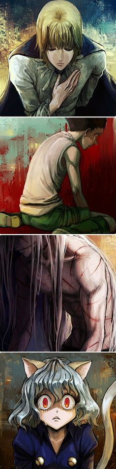 Pouf, Gon, Kite, and Pitou....just excuse me while I sob uncontrollably         ~Hunter X Hunter