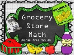 Grocery Words Pleasing Grocery Store Math Money And Change From $5.00  Cooperative .