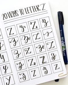 Reminiscing about this challenge, I had so much fun with it! Here's the entire 20 Ways to Letter the Alphabet series recap! Should I turn… Hand Lettering Styles, Hand Lettering Tutorial, Hand Lettering Fonts, Doodle Lettering, Creative Lettering, Brush Lettering, Lettering Design, Graffiti Lettering, Calligraphy Alphabet
