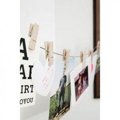 1000 id es sur le th me pince linge cadres de photo sur - Cadre photo avec pince linge ...