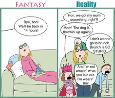 Fantasy vs. Reality: Mother's Day (Mostly Reality)