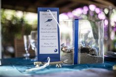 SEA WEDDING, CENTROTAVOLA E MENU TEMA MARE