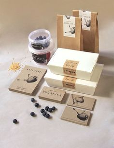 Real Food Botanica – The Dieline -. love white box with craft paper lable