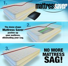 MattressSaver by ZzzBoard is a patented, high density, non-toxic foam that fixes your mattress sag problem – positioned directly below the sag, between your box spring & mattress.